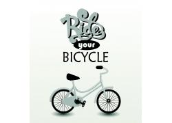 艺术字母自行车印花图案