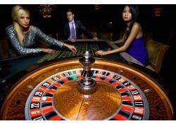 赌场的性感美女