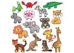 彩色可爱卡通动物图片