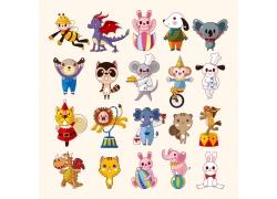 表演的卡通动物图片
