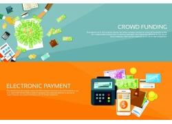 金融商业条幅背景