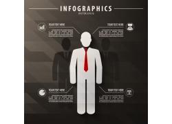 立体商务男人信息图表
