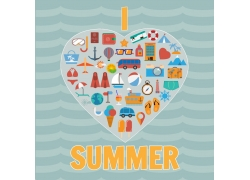 夏日旅游图标