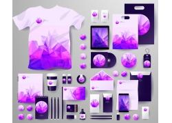 紫色三角形VI背景