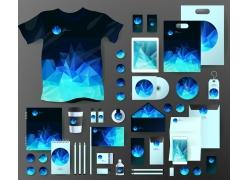 蓝色三角形VI设计