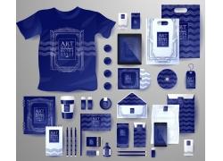 蓝色波浪线VI设计
