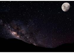月亮与星空
