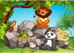 野生动物插画图片