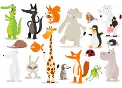 野生动物漫画图片