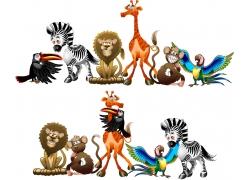 卡通野生动物插图图片