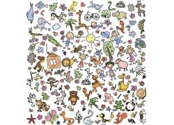 手绘动物漫画图片