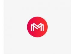 圆形的字母M标志