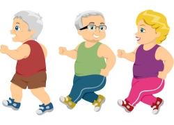 健身的老年人