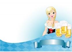 啤酒节海报背景图片