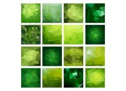 绿色立体三角形背景