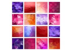彩色梦幻三角形背景