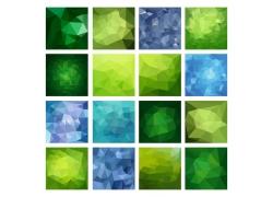 绿色梦幻立体三角形