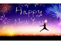 新年快乐背景