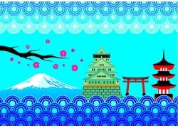 日本卡通山水风景画