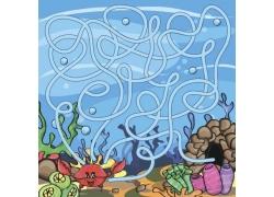 幼儿海底世界迷宫游戏