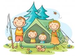 野游的一家人图片