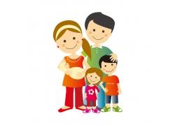 幸福的卡通家庭图片