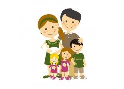 快乐的一家人图片