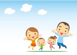 跳跃的一家人图片