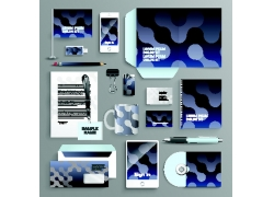 蓝色时尚VI设计