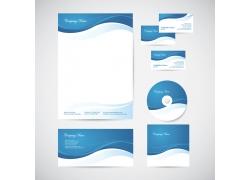 蓝色曲线企业VI模板