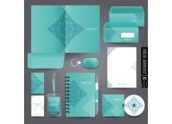 蓝色花纹企业VI模板