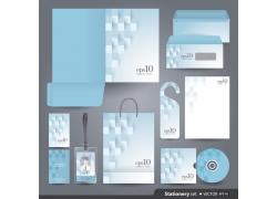 蓝色方形企业VI模板