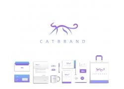 小猫logo与VI设计