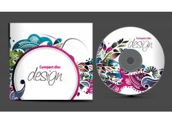 时尚潮流花纹CD包装