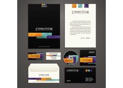 彩色长方形线条企业VI模板