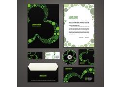 绿光圆形光斑企业VI模板
