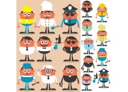关于流鼻涕的漫画_职业人物漫画矢量图片(图片ID:968974)_-卡通形象-矢量人物-矢量 ...
