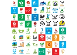 个性彩色体育运动标签