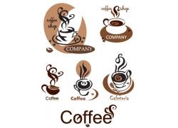 复古咖啡标志logo设计