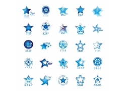 蓝色五角星星标志