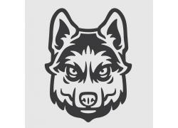 狼动物头像标志