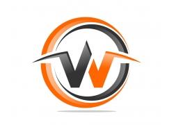 创意圆环字母W标志