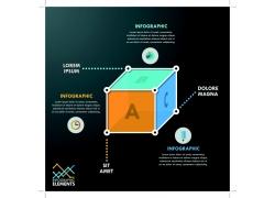 立方体信息图表