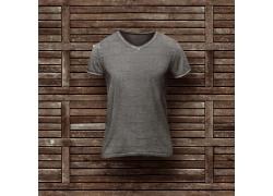 V领男短袖T恤展示