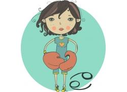 卡通星座女孩漫画图片
