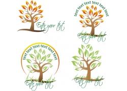 秋天树木标志