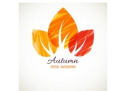 彩色秋天叶子标志