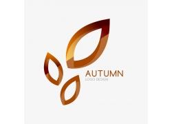 秋天叶子图形标志