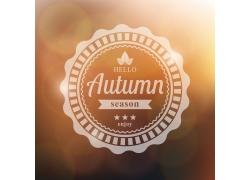 圆形标签秋天标志