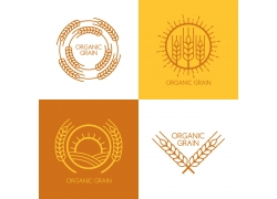 秋天稻子麦穗标志